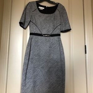 Kay Unger Belted Pencil Dress